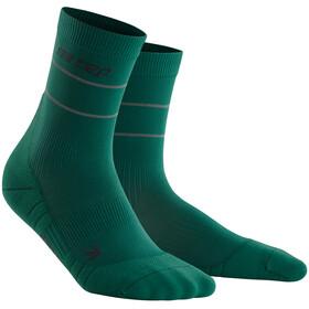 cep Reflective Mid Cut Socks Women, verde